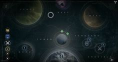 Destiny features six main areas to explore. Several different planets and moons have been shown since the announcement of Destiny, but not all will be in. Love Destiny, Destiny Game, Planet Map, Space Map, Different Planets, Planets And Moons, Game Ui Design, Invite Friends, Our Solar System