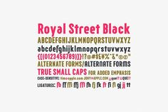 Royal Street Black font  @creativework247