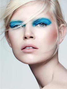 I really like this makeup from a recent Barney's ad.