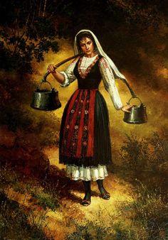 My day in Bulgaria Art Costume, Folk Costume, Aesthetic Vintage, Aesthetic Art, Baby Food Jar Crafts, Art Deco Home, Borders For Paper, Folk Dance, Russian Art