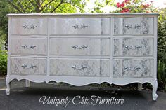 Uniquely Chic Furniture: Lace and a Hot Mess