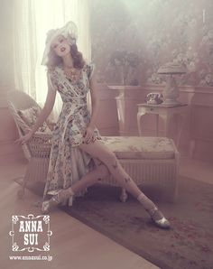 FRIDA GUSTAVSSON BY SOFIA & MAURO FOR ANNA SUI SPRING/SUMMER 2012 (AD CAMPAIGN)