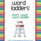 Here's a free packet of 20 half-page word ladders featuring short vowels! I use these pages in literacy centers and learning journals.