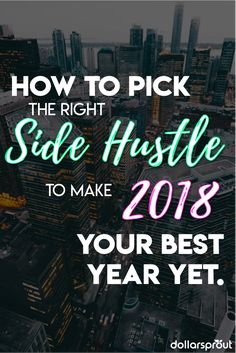 Make more money in 2018 with a side hustle. Need ideas? Check out this list of money making ideas and ways you can make money online