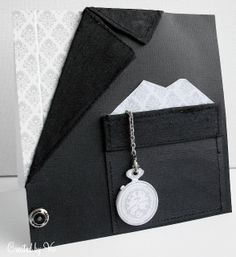 masculine card by Viv.... would make a great card for a groom or father-of-the-bride