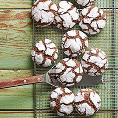 Chocolate-Mint Snow-Top Cookies These minty cookies are a chocolate lover's delight. For a sweet snack at your fingertips, make ahead and freeze up to 3 months.