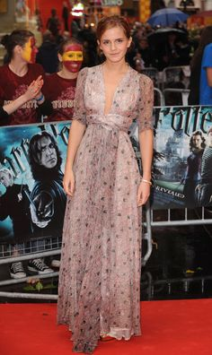 Emma Watson chose this beautiful vintage Ossie Clark gown for the red carpet!