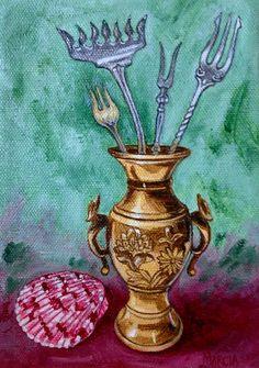 Still Life Painting Original oil painting  by MarciaKeithAlaniz