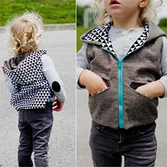 See Kate Sew Aztec Hooded Vest Sewing Pattern - Girl Charlee