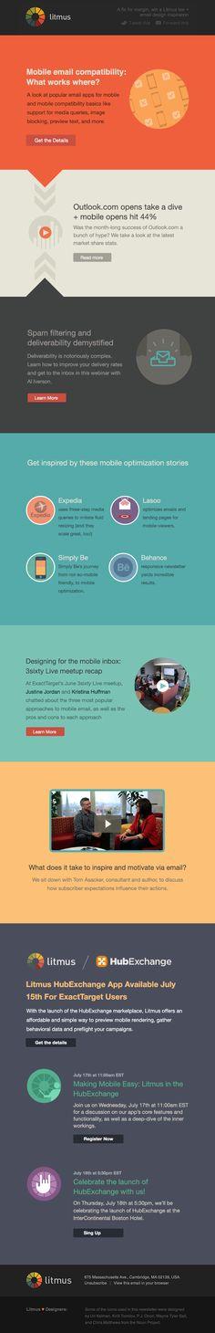 Cool Web Design, litmus. #webdesign #webdevelopment [http://www.pinterest.com/alfredchong/]