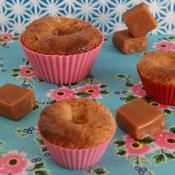 Recette petits gâteaux fondants aux poires cœur caramel