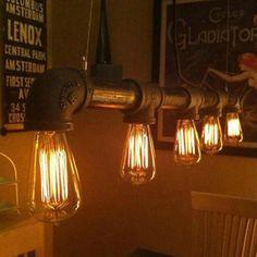 Industrial Retro Vintage Water Pipe Pendant Lamp Ceiling Light Kitchen Bar Lamp