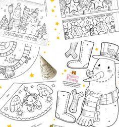 Ezen a remek kreatív honlapon nem csak egy, de rögtön 13! különböző karácsonyi és téli témájúszínezőtés színezhető figurát találhatsz, a mozgatható hóembertől, a kúp formára összehajtogatható Télapón angyalkánés ...