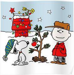 SNOOPY CHARLIE BROWN CHRISTMAS Poster
