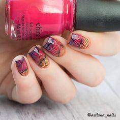Born Pretty line stamping nail art design review from bornprettystore.com customer