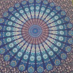 A personal favorite from my Etsy shop https://www.etsy.com/listing/280933948/queen-mandala-bedspread-mandala-beach