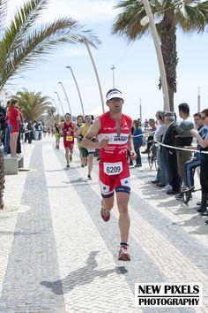 Philip Hatzis Second lap of the 5k run Quateira Triathlon ETU