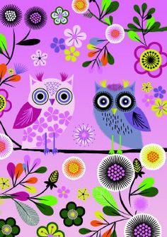 Roger la Borde   Enchanted Owl Greeting Card
