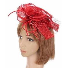 Women Wedding Party Race Game Headpiece Fascinator Flower Hair Clip Feather…