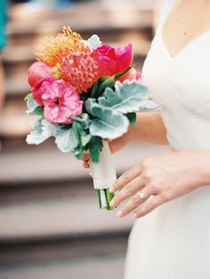 bouquet handmade by the Bride (city hall wedding ideas)