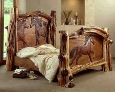 Amazing carved bed by Amber Jean