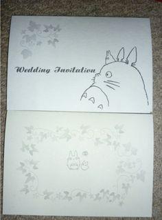 Magical Wedding Totoro Studio Ghibli Bat Mitzvah Theme Ideas Dreams Invitations Envelope Stuff