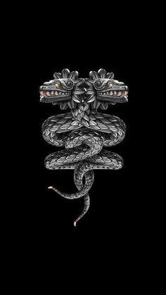 "Quetzalcóatl /ˌkɛtsɑːlˈkoʊɑːtəl is a Mesoamerican deity whose name comes from the Nahuatl language and means ""feathered serpent. Tribal Tattoos, Mayan Tattoos, Aztec Tattoo Designs, Body Art Tattoos, Quetzalcoatl Tattoo, Mexico Tattoo, Art Chicano, Aztec Symbols, Arte Black"