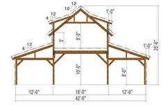 pole barn garage example of Great Plains Western Horse Barn Bent Section example of Great Plains Western Horse Barn Bent Section