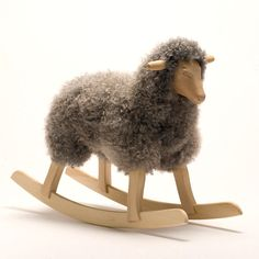 rocking sheep - handmade in norway. also comes in white. only about $650 ...