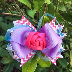 Pink Purple and Blue Stacked Hair Bow by BlackberryVineCo on Etsy (scheduled via http://www.tailwindapp.com?utm_source=pinterest&utm_medium=twpin&utm_content=post121313643&utm_campaign=scheduler_attribution)