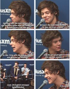 His smile in the last picture though... <3