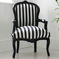 Black and White Striped Chair from Out There Interiors |
