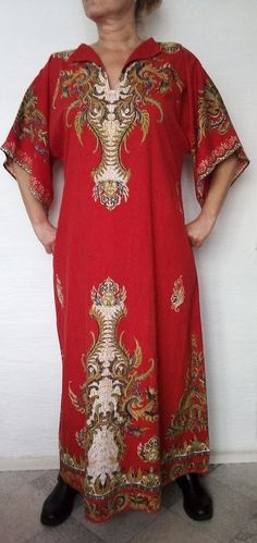 a0b1e35db4d African Kaftan dress Red PLUS SIZE Dashiki women dress Boho Hippie caftan  dress Ethnic maxi dress ro