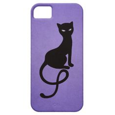 """Stylish iPhone 5 case with a beautiful illustration of a gracious evil black cat with glowing eyes on a night watch in the dark purple haze. <br /><br /> Also with this evil cat purple illustration: <br /><br />  <div style=""""text-align:center;line-height:150%""""> <a href=""""http://www.zazzle.com/purple_gracious_evil_black_cat_case-179821469865936713?rf=238946819468596912""""> <img src=""""http://rlv.zcache.com/purple_gracious_evil_black_cat_case-r98cbecbc22c14bb08f653426d7cd77ea_a460e_8byvr_325.jpg""""…"""