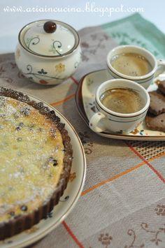 Crostata di ricotta e miele con frolla di Kamut al cacao