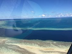 Pic taken by @maykingtea from the helicopter ride at The Great Barrier Reef