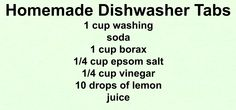By the Porchlight: Homemade Dishwasher Tabs