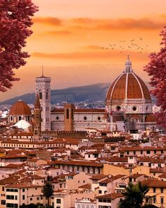 Sunset Palette, Florence Cathedral, Destinations, City Photography, Florence Italy, Stunning View, Santa Maria, Wallpaper, Pretty Pictures