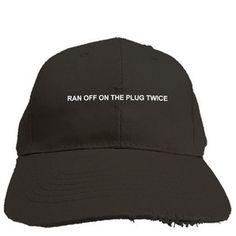 Ran Off On The Plug Distressed Polo Hat ac2173d8fbc