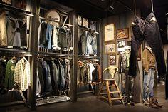 wall racks instore,pinned by Ton van der Veer