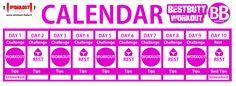 bb workout calendar