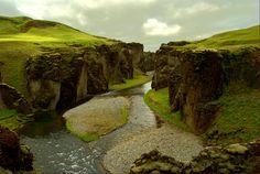 Breathtaking Geological Photos - Fjaðrárgljúfur Canyon, Iceland