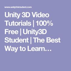 Unity 3D Video Tutorials | 100% Free | Unity3D Student | The Best Way to Learn…