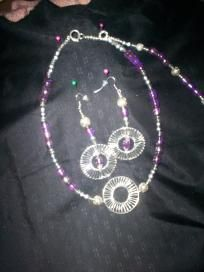 Handmade Necklace and Earring Set Free Shipping S11