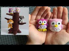 손뜨개인형 부엉이 입니다~!! 도안과 뜨는영상보고 같이해봐요~ - YouTube Diy Crochet, Crochet Hats, Owls, Amigurumi, Knitting Hats, Owl, Tawny Owl