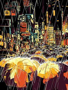 LOLITA - raid71: Mead Streets Blade Runner piece. @belleleiela @LeilaRighetti #popculture #scifi #scifiart #sciencefiction #art #drawing #graphic #bladerunner #dystopian #cyberpunk Cyberpunk Girl, Acid Art, Protest Art, Dope Cartoon Art, Landscape Concept, Futuristic Art, Blade Runner, Cute Art, Aesthetic Wallpapers