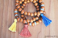 Stretch Wood Bracelet // Multicolor Hippie Bracelet // by Gomeow, $9.95