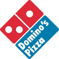 There's a domino within the logo and their name is domino's pizza. The square shape also represents a pizza box. Logo Restaurant, Fast Food Restaurant, Pizza Restaurant, Restaurant Deals, Pizza Logo, Pizza Hut, Ham Pizza, Kids Pizza, Crust Pizza