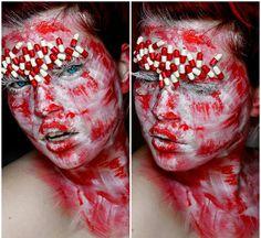#redmakeup #mua #makeupartist #makeup #makeupart #abstractmakeup #face #canvas #artmakeup #facepainting