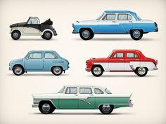Dribbble - USSR cars by Sergey Zolotnikov